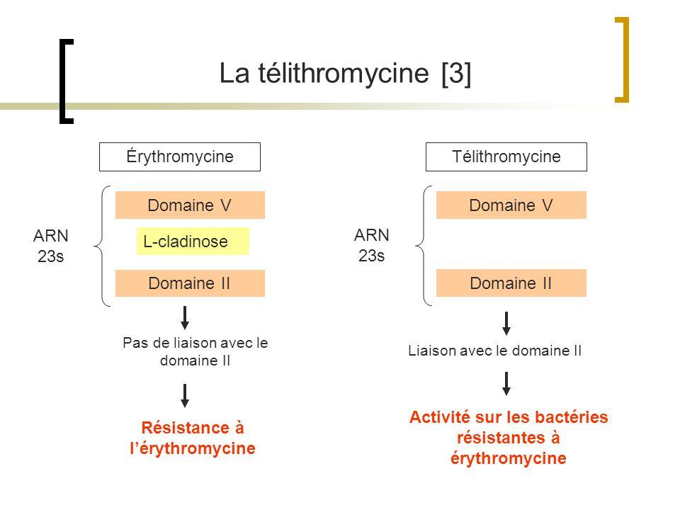 La télithromycine [3] Érythromycine Télithromycine Domaine V